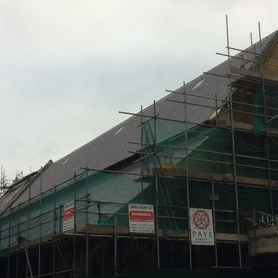 New slates completed on north roof, Dec 2017