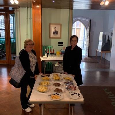 Pauline and Sue providing refreshments for Event