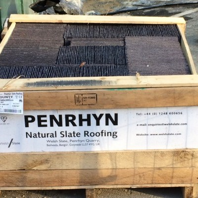 Delivery of Penrhyn slates